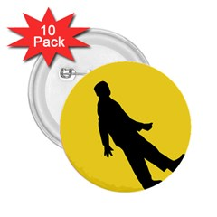 Walking Traffic Sign 2 25  Button (10 Pack) by youshidesign
