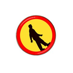 Walking Traffic Sign Golf Ball Marker (for Hat Clip) by youshidesign