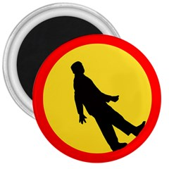 Walking Traffic Sign 3  Button Magnet by youshidesign