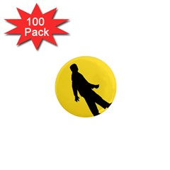 Walking Traffic Sign 1  Mini Button Magnet (100 pack)