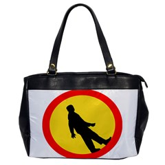 Walking Traffic Sign Oversize Office Handbag (one Side) by youshidesign