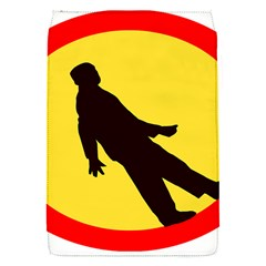 Walking Traffic Sign Removable Flap Cover (small) by youshidesign