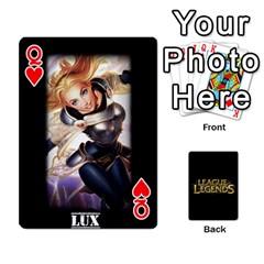 Queen League Cards By Seongjun Kim   Playing Cards 54 Designs   Tpbueke158mz   Www Artscow Com Front - HeartQ