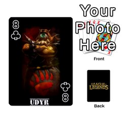 League Cards By Seongjun Kim   Playing Cards 54 Designs   Tpbueke158mz   Www Artscow Com Front - Club8