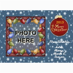 Holiday Card #1, 5x7 By Joy Johns   5  X 7  Photo Cards   M20jj26n1a3j   Www Artscow Com 7 x5 Photo Card - 4