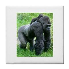 Gorilla Dad Ceramic Tile by plindlau
