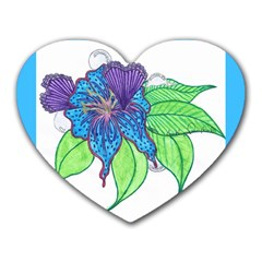 Flower Design Mouse Pad (heart) by JacklyneMae