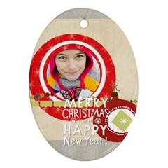 Merry Christmas By Merry Christmas   Oval Ornament (two Sides)   Xfkic7rg8uwe   Www Artscow Com Back