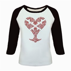 Key Heart 2 Women s Long Cap Sleeve T Shirt by Nightmarechild