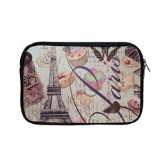 French Pastry Vintage Scripts Floral Scripts Butterfly Eiffel Tower Vintage Paris Fashion Apple Ipad Mini Zipper Case by chicelegantboutique