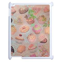 French Pastry Vintage Scripts Cookies Cupcakes Vintage Paris Fashion Apple Ipad 2 Case (white) by chicelegantboutique