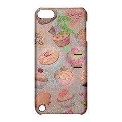 French Pastry Vintage Scripts Cookies Cupcakes Vintage Paris Fashion Apple Ipod Touch 5 Hardshell Case With Stand by chicelegantboutique