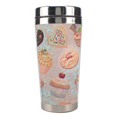 French Pastry Vintage Scripts Cookies Cupcakes Vintage Paris Fashion Stainless Steel Travel Tumbler by chicelegantboutique