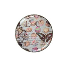 French Pastry Vintage Scripts Floral Scripts Butterfly Eiffel Tower Vintage Paris Fashion Golf Ball Marker 10 Pack (for Hat Clip) by chicelegantboutique