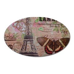 Girly Bee Crown  Butterfly Paris Eiffel Tower Fashion Magnet (oval) by chicelegantboutique