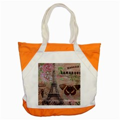 Girly Bee Crown  Butterfly Paris Eiffel Tower Fashion Accent Tote Bag by chicelegantboutique