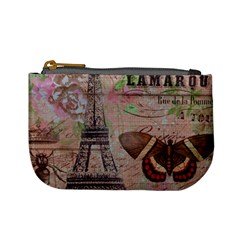 Girly Bee Crown  Butterfly Paris Eiffel Tower Fashion Coin Change Purse by chicelegantboutique