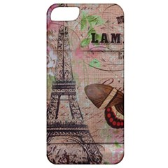 Girly Bee Crown  Butterfly Paris Eiffel Tower Fashion Apple Iphone 5 Classic Hardshell Case by chicelegantboutique