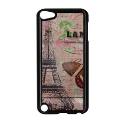 Girly Bee Crown  Butterfly Paris Eiffel Tower Fashion Apple Ipod Touch 5 Case (black) by chicelegantboutique