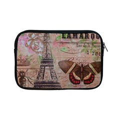 Girly Bee Crown  Butterfly Paris Eiffel Tower Fashion Apple iPad Mini Zipper Case by chicelegantboutique
