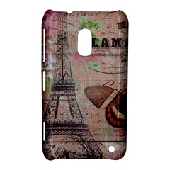 Girly Bee Crown  Butterfly Paris Eiffel Tower Fashion Nokia Lumia 620 Hardshell Case by chicelegantboutique