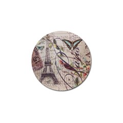 Paris Eiffel Tower Vintage Bird Butterfly French Botanical Art Golf Ball Marker 10 Pack by chicelegantboutique