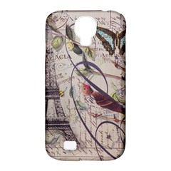 Paris Eiffel Tower Vintage Bird Butterfly French Botanical Art Samsung Galaxy S4 Classic Hardshell Case (pc+silicone) by chicelegantboutique