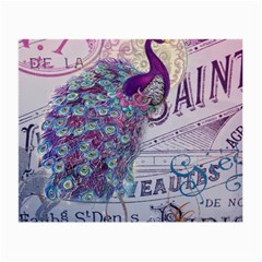 French Scripts  Purple Peacock Floral Paris Decor Glasses Cloth (small) by chicelegantboutique