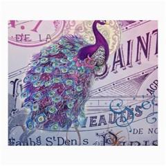 French Scripts  Purple Peacock Floral Paris Decor Canvas 36  X 48  (unframed) by chicelegantboutique