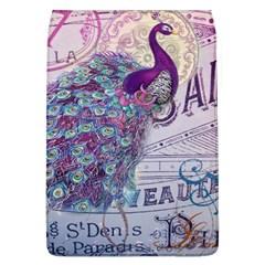 French Scripts  Purple Peacock Floral Paris Decor Removable Flap Cover (large) by chicelegantboutique