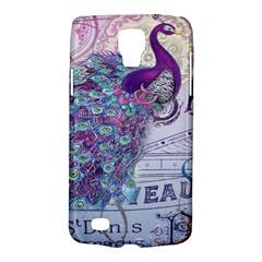 French Scripts  Purple Peacock Floral Paris Decor Samsung Galaxy S4 Active (i9295) Hardshell Case by chicelegantboutique