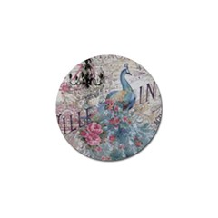 French Vintage Chandelier Blue Peacock Floral Paris Decor Golf Ball Marker 4 Pack by chicelegantboutique