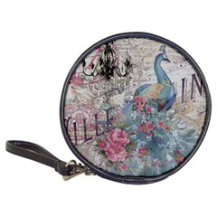 French Vintage Chandelier Blue Peacock Floral Paris Decor Cd Wallet by chicelegantboutique