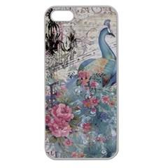 French Vintage Chandelier Blue Peacock Floral Paris Decor Apple Seamless Iphone 5 Case (clear) by chicelegantboutique