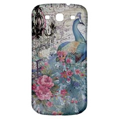 French Vintage Chandelier Blue Peacock Floral Paris Decor Samsung Galaxy S3 S Iii Classic Hardshell Back Case by chicelegantboutique