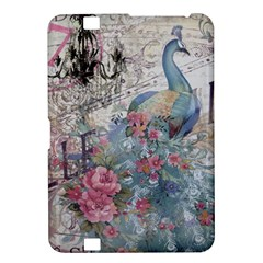 French Vintage Chandelier Blue Peacock Floral Paris Decor Kindle Fire Hd 8 9  Hardshell Case by chicelegantboutique