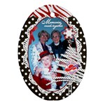 Red Hat Ladies_oval ornament 1 side - Ornament (Oval)