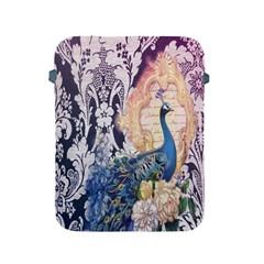 Damask French Scripts  Purple Peacock Floral Paris Decor Apple Ipad 2/3/4 Protective Soft Case by chicelegantboutique