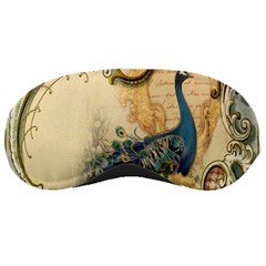 Victorian Swirls Peacock Floral Paris Decor Sleeping Mask by chicelegantboutique