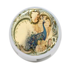 Victorian Swirls Peacock Floral Paris Decor 4 Port Usb Hub (two Sides) by chicelegantboutique
