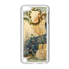 Victorian Swirls Peacock Floral Paris Decor Apple Ipod Touch 5 Case (white) by chicelegantboutique