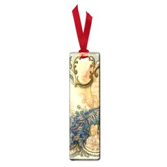 Victorian Swirls Peacock Floral Paris Decor Small Bookmark by chicelegantboutique