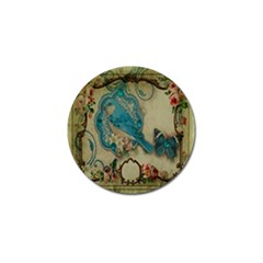 Victorian Girly Blue Bird Vintage Damask Floral Paris Eiffel Tower Golf Ball Marker 10 Pack by chicelegantboutique