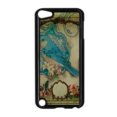 Victorian Girly Blue Bird Vintage Damask Floral Paris Eiffel Tower Apple Ipod Touch 5 Case (black) by chicelegantboutique