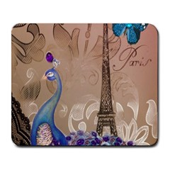 Modern Butterfly  Floral Paris Eiffel Tower Decor Large Mouse Pad (rectangle) by chicelegantboutique