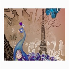 Modern Butterfly  Floral Paris Eiffel Tower Decor Canvas 12  X 16  (unframed) by chicelegantboutique