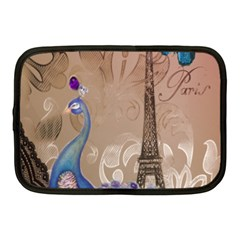 Modern Butterfly  Floral Paris Eiffel Tower Decor Netbook Case (medium) by chicelegantboutique