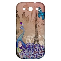 Modern Butterfly  Floral Paris Eiffel Tower Decor Samsung Galaxy S3 S Iii Classic Hardshell Back Case by chicelegantboutique