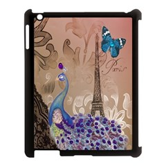 Modern Butterfly  Floral Paris Eiffel Tower Decor Apple Ipad 3/4 Case (black) by chicelegantboutique