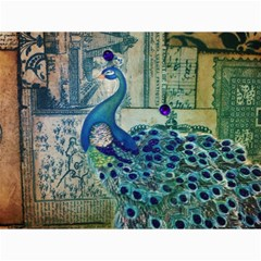 French Scripts Vintage Peacock Floral Paris Decor Canvas 12  X 16  (unframed) by chicelegantboutique